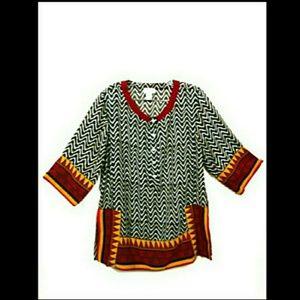 Soft Surroundings African print tunic Sz. Petite M